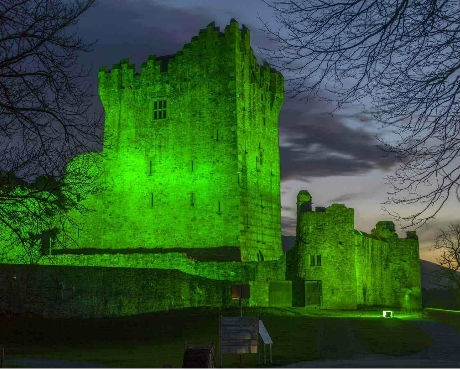st patricks day ross castle killarney